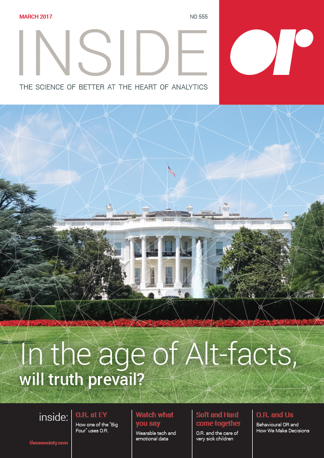 Front cover of Inside OR magazine March 2017