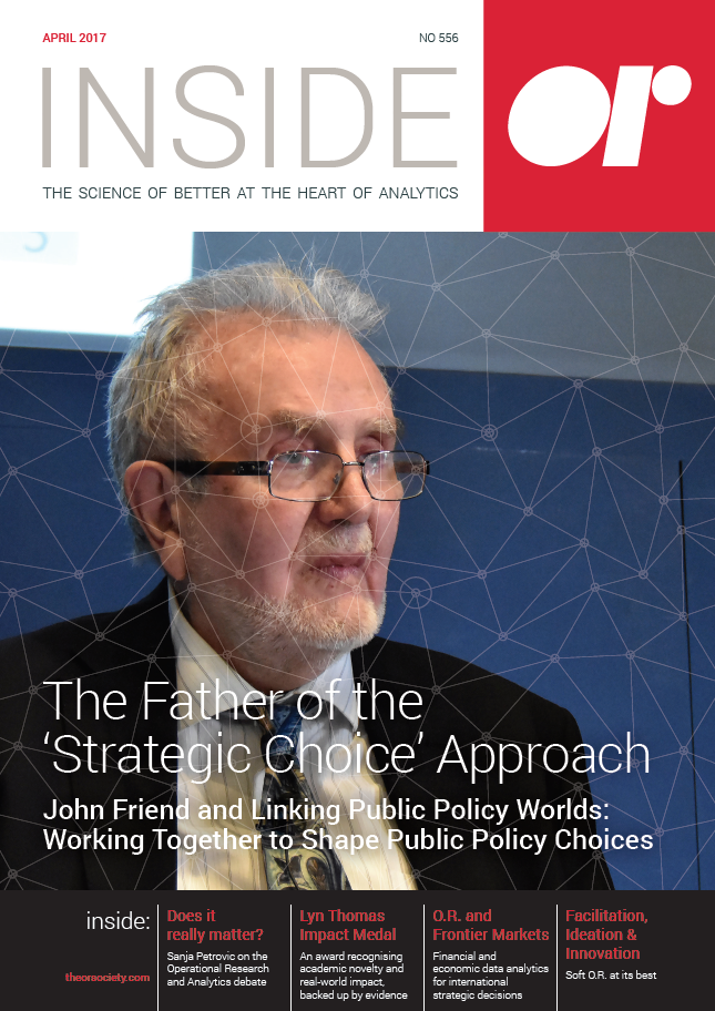 Front cover of Inside OR magazine April 2017