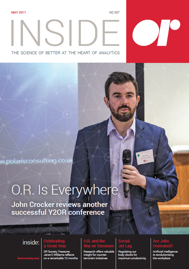 Front cover of Inside OR magazine May 2017