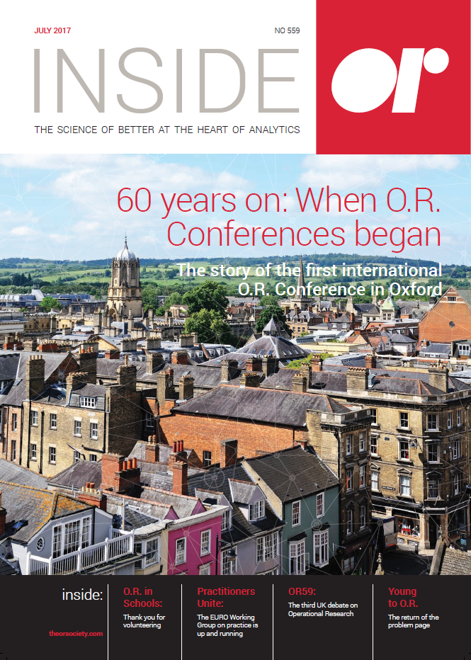 Front cover of Inside OR magazine July 2017